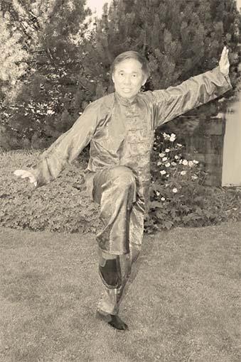 Grandmaster Wong performing pattern White Crane Flaps Wings